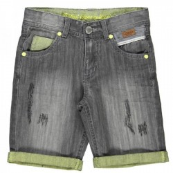 Boboli Grey Denim Bermudas