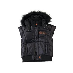 Boboli Faux Fur Collar Vest (Girls)