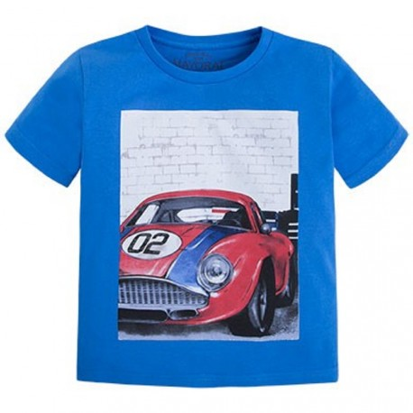 Mayoral Blue Car Shirt