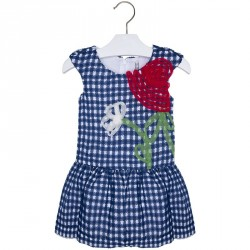 Mayoral Navy Ribbon Dress