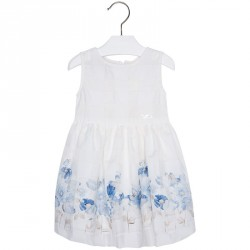 Mayoral White Floral Dress