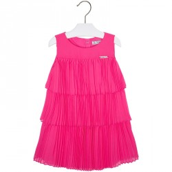 Mayoral Fushia Pleated Dress