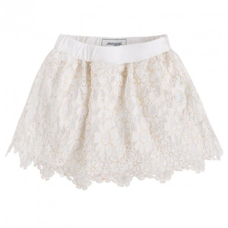 Mayoral White Lace Skirt