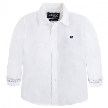 Mayoral White Linen Shirt