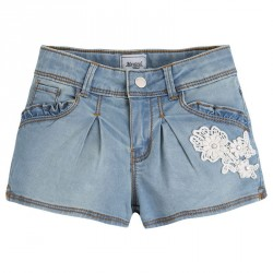 Mayoral Bleached Denim Shorts