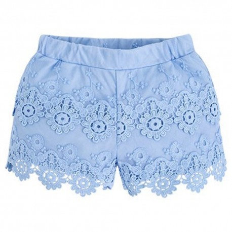 Mayoral Guipure Shorts