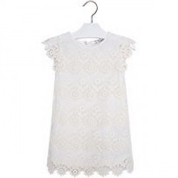 Mayoral Cream Crochet Dress