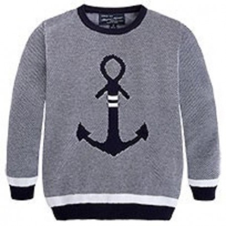 Mayoral Navy Anchor Sweater