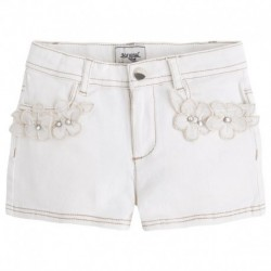 Mayoral Cream Shorts