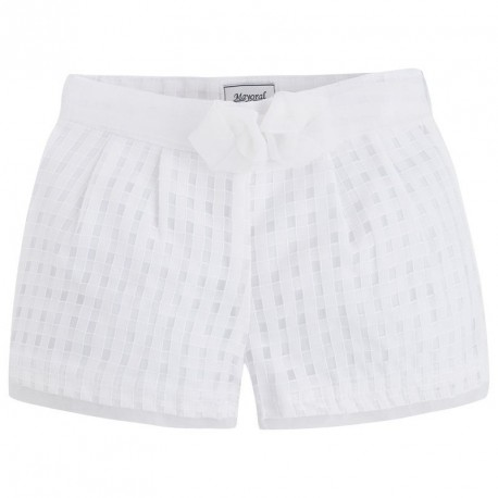 Mayoral White Plaid Bermuda