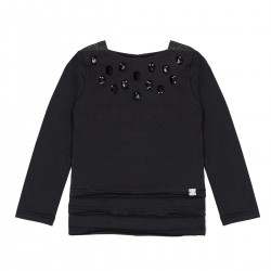 deux par deux Jewel Black Top Bohemian Spirit
