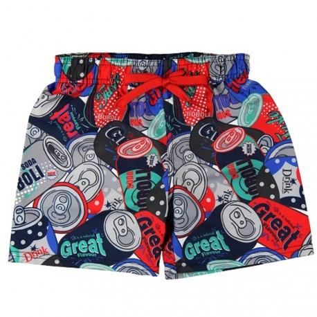 Boboli Cola Print Swim Trunks