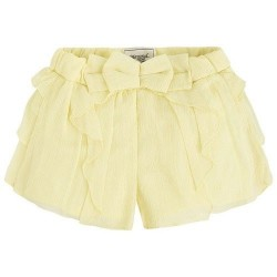 Mayoral Yellow Bow Shorts