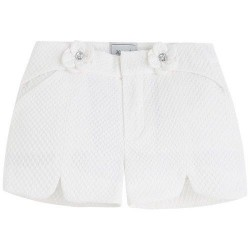 Mayoral White Floral Shorts