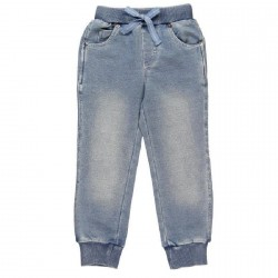 Boboli Fleece Denim Joggers