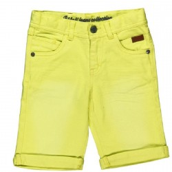 Boboli Yellow Denim Bermudas