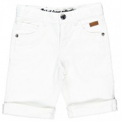 Boboli White Denim Bermudas